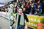 V&auml;ster&aring;s 2014-03-08 Bandy SM-semifinal 4 V&auml;ster&aring;s SK - Hammarby IF :  <br /> V&auml;ster&aring;s SK sportchef Michael Campese &auml;r glad efter matchen<br /> (Foto: Kenta J&ouml;nsson) Nyckelord:  VSK Bajen HIF jubel gl&auml;dje lycka glad happy