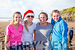 Chloe, Michelle, Janet and Jada Quirke from Abbeyfeale attending the Fourth Annual Connie Harnett Memorial Swim in Ballybunion on New Years Day.