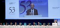 Un momento dell'assemblea annuale dell'Abi, Associazione Bancaria Italiana, a Roma, 10 luglio 2013.<br /> A view of the annual assembly of the Italian Banking Association (ABI) in Rome, 10 July 2013.<br /> UPDATE IMAGES PRESS/Riccardo De Luca