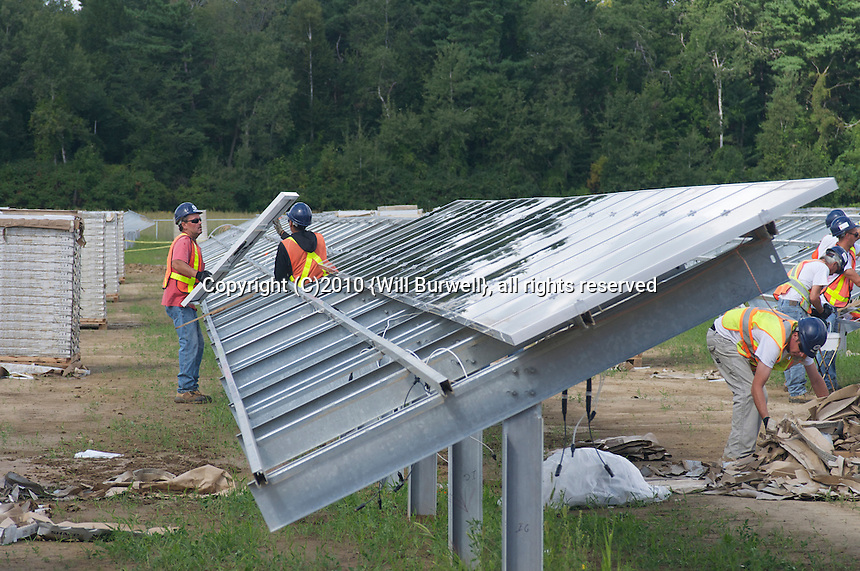 Nearing Completion of solar panel installation