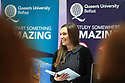 Queen's graduate Diane Murdock speaking at the opening of the new £14m iconic and world class Computer Science hub at Queen's University Belfast. Photo/Paul McErlane