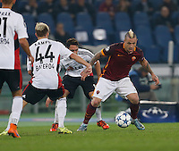 AS Roma's Radja Nainggolan  during the Champions League Group E soccer match between As Roma and  Bayer Leverkusen at the Olympic Stadium in Rome, November 04 2015