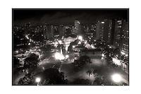 Praça da República após grande obra de restauração feita pelo então prefeito Almir Gabriel .<br /> Belém, Pará, Brasil.<br /> Foto Paulo Santos.<br /> 1985