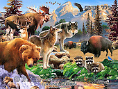 Howard, REALISTIC ANIMALS, REALISTISCHE TIERE, ANIMALES REALISTICOS, paintings+++++,GBHR779,#A# ,puzzles