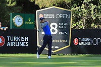 Fabrizio Zanotti (PAR) during the second round of the Turkish Airlines Open, Montgomerie Maxx Royal Golf Club, Belek, Turkey. 08/11/2019<br /> Picture: Golffile | Phil INGLIS<br /> <br /> <br /> All photo usage must carry mandatory copyright credit (© Golffile | Phil INGLIS)