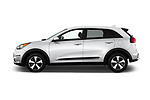 Car Driver side profile view of a 2017 KIA Niro FE 5 Door Hatchback Side View