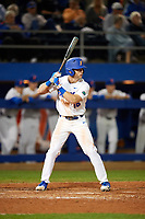 Florida Gators right fielder Wil Dalton (16) at bat during a game against the Siena Saints on February 16, 2018 at Alfred A. McKethan Stadium in Gainesville, Florida.  Florida defeated Siena 7-1.  (Mike Janes/Four Seam Images)