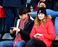 Lincoln City fans enjoy the pre-match atmosphere<br /> <br /> Photographer Andrew Vaughan/CameraSport<br /> <br /> The EFL Sky Bet League Two - Lincoln City v Port Vale - Tuesday 1st January 2019 - Sincil Bank - Lincoln<br /> <br /> World Copyright &copy; 2019 CameraSport. All rights reserved. 43 Linden Ave. Countesthorpe. Leicester. England. LE8 5PG - Tel: +44 (0) 116 277 4147 - admin@camerasport.com - www.camerasport.com