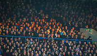 Leeds United fans are bathed in afternoon sunshine in the John Charles stand<br /> <br /> Photographer Alex Dodd/CameraSport<br /> <br /> The EFL Sky Bet Championship - Leeds United v Bristol City - Saturday 24th November 2018 - Elland Road - Leeds<br /> <br /> World Copyright &copy; 2018 CameraSport. All rights reserved. 43 Linden Ave. Countesthorpe. Leicester. England. LE8 5PG - Tel: +44 (0) 116 277 4147 - admin@camerasport.com - www.camerasport.com