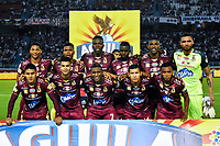 BARRANQUIILLA - COLOMBIA, 23-01-2019: Jugadores del Tolima posan para una foto previo al partido de idaentre Atlético Junior y Deportes Tolima por la Súper Liga Águila 2019 jugado en el estadio Metropolitano Roberto Melendez de la ciudad de Barranquilla. / Players of Tolima pose to a photo prior the first leg matchbetween Atletico Junior and Deportes Tolima of the Aguila Super League 2019 played at Metropolitano Roberto Melendez stadium in Barranquilla city.  Photo: VizzorImage / Alfonso Cervantes / Cont