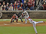 13 October 2012: The St. Louis Cardinals first baseman Allen Craig in action during Postseason Playoff Game 5 of the National League Divisional Series against the Washington Nationals at Nationals Park in Washington, DC. The Cardinals stunned the home team Nats with a four-run rally in the 9th inning to defeat the Nationals 9-7 and win the NLDS, moving on to the NL Championship Series. Mandatory Credit: Ed Wolfstein Photo