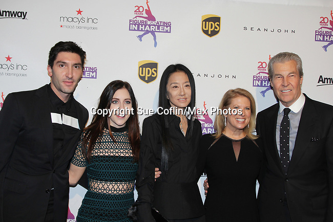 Figure Skating in Harlem celebrates 20 years - Champions in Life benefit Gala on May 2, 2017 - Evan Lysacek, Ashley Wagner, designer Vera Wang, Tina & Terry Lundgren at 583 Park Avenue, New York City, New York. . (Photo by Sue Coflin/Max Photos)