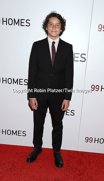 actor Noah Lomax attends the New York Premiere of &quot;99 Homes&quot; on September 17, 2015 at AMC Loews Lincoln Square in New York City, New York, USA.<br /> <br /> photo by Robin Platzer/Twin Images<br />  <br /> phone number 212-935-0770