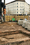 Germany, Berlin, 2018/01/24<br /> <br /> Construction site by the remains of a ramshackle Carl-Wolfgang Holzapfel and his companions used to cover up the work on a tunnel from West- to East-Berlin in 1963. Photo by Gregor Zielke (Photo by Gregor Zielke)