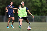 CARY, NC - APRIL 20: Jaelene Hinkle. The North Carolina Courage held a training session on April 20, 2017, at WakeMed Soccer Park Field 7 in Cary, NC.