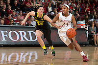 STANFORD, CA - January 3, 2014: Stanford Cardinal's Jasmine Camp during the Pac-12 Opener versus the Oregon Ducks at Maples Pavilion.  Stanford defeated the Ducks 96-66.