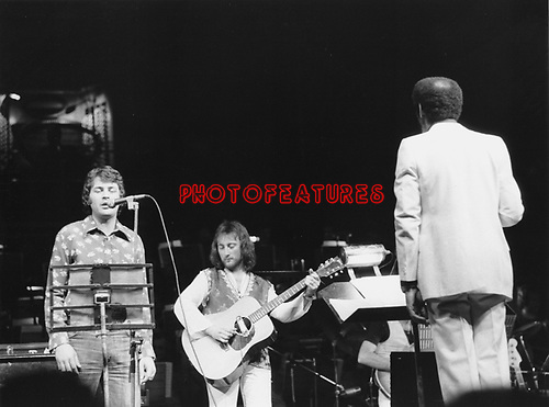 Ian Gillan and Roger Glover 1975 at Roger Glover's Butterfly Ball at Royal Albert Hall..