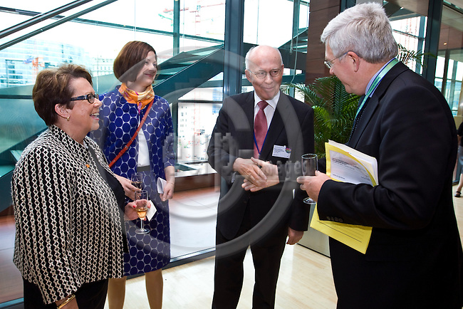 BRUSSELS - BELGIUM - 05 JUNE 2012 -- Turku - European Capital of Culture 2011- in grateful recognition to the European Union and all co-operation partners - Opening of a photo exhibition ?Culture in Pictures - Turku 2011? and lunch reception. -- Ms Cay Sevón, CEO, Turku 2011 Foundation, Minna Arve, Chair of the City Board, City of Turku, Jan Store, Permanent Representative of Finland to the European Union and Mr Jan Truszcynski, European Commission, DG Education and Culture. -- PHOTO: Juha ROININEN /  EUP-IMAGES