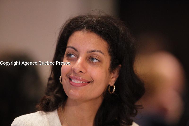 Dominique Anglade<br /> , April 22, 2016.<br /> <br /> Photo : Pierre Roussel - Agence Quebec Presse<br /> <br /> <br /> <br /> <br /> <br /> <br /> <br /> <br /> .
