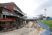 A view of the old pavilion building and construction work during Yorkshire CCC vs Essex CCC, Specsavers County Championship Division 1 Cricket at Emerald Headingley Cricket Ground on 15th April 2018