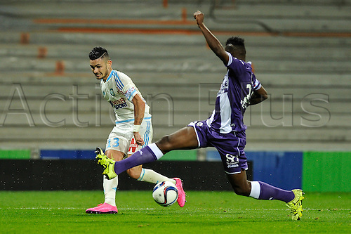23.09.2015. Toulouse, France. French League 1 football. Toulouse versus Marseille.  Remy Cabella (om)
