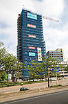 High rise tower block building under construction, Nijmegen, Netherlands