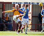 30.03.2019 Motherwell v St Johnstone: Charles Dunne and Murray Davidson