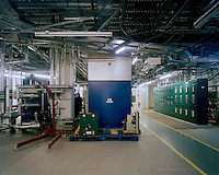 Air-conditioning unit for the King's Library.(provides conservation standard conditions for 750,000 books).Basement 2, Zone 5,.British Library, 2007