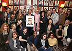 Michael Grief with his Broadway friends attends the Michael Grief Sardi's Portrait Unveiling at Sardi's on 4/27/2017 in New York City.