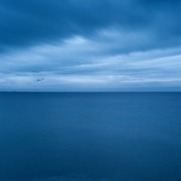 Abstract coastal scene of Vestfjord, Stamsund, Lofoten Islands, Norway