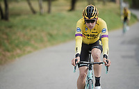 Wout Van Aert (BEL/Jumbo-Visma)<br /> <br /> Team Jumbo-Visma race reconnaissance 1 day prior to the 13th Strade Bianche 2019 (1.UWT)<br /> One day race from Siena to Siena (184km)<br /> <br /> ©kramon