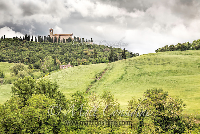 The abbey Sant'Anna in Camprena featured in the film The English Patient. (Photo by Matt Considine Travel Photographer)
