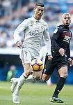 Real Madrid's Cristiano Ronaldo (l) and Granada CF's Gabriel Silva during La Liga match. January 7,2016. (ALTERPHOTOS/Acero)