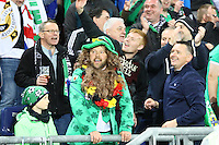 Nordirische Fans feiern- 11.10.2016: Deutschland vs. Nordirland, HDI Arena Hannover, WM-Qualifikation Spiel 3