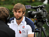 Bagshot, England. Geoff Parling of England during the England training and Media session held at Pennyhill Park on November 8, 2012 in Bagshot, England.