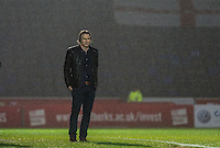 Wycombe Wanderers Manager Gareth Ainsworth as the rain falls during the Sky Bet League 2 match between Wycombe Wanderers and Morecambe at Adams Park, High Wycombe, England on 2 January 2016. Photo by Andy Rowland / PRiME Media Images