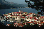 .Korcula island. Korcula harbour.Cruise in Croatia. Island of Dalmatia