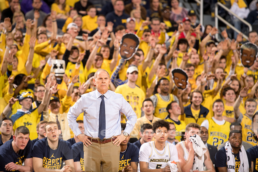 The University of Michigan men's basketball team defeats Wisconsin, 64-58, at Crisler Center in Ann Arbor, MI on February 16, 2017.