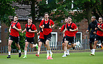 Sheffield Utd players on training runs during the training session at the Shirecliffe Training complex, Sheffield. Picture date: June 27th 2017. Pic credit should read: Simon Bellis/Sportimage