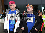 Richard Corrigan and Seamus Cullen who took part in the SOSAD 5K run. Photo:Colin Bell/pressphotos.ie