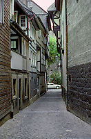 Goslar: Munzstrasse (Mint Street).  Photo '87.