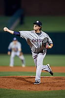 Colorado Springs Sky Sox relief pitcher Tristan Archer (34) delivers a pitch during a game against the Oklahoma City Dodgers on June 2, 2017 at Chickasaw Bricktown Ballpark in Oklahoma City, Oklahoma.  Colorado Springs defeated Oklahoma City 1-0 in ten innings.  (Mike Janes/Four Seam Images)
