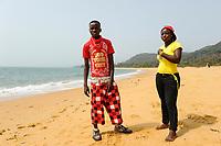 SIERRA LEONE Kent, beach at atlantic ocean / SIERRA LEONE Kent, Strand am atlantischen Ozean