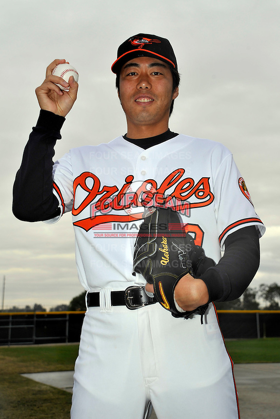 Feb 27, 2010; Tampa, FL, USA; Baltimore Orioles  pitcher Koji Uehara (19) during  photoday at Ed Smith Stadium. Mandatory Credit: Tomasso De Rosa