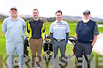 Donal O'Sullivan from Beaufort, John Horgan from Killcumin, Denis Pio Moriarty from Beaufort and Tim O'Brien from Beaufort at the Fundraiser for the Beaufort Golf Club Mens Branch last Friday morning.