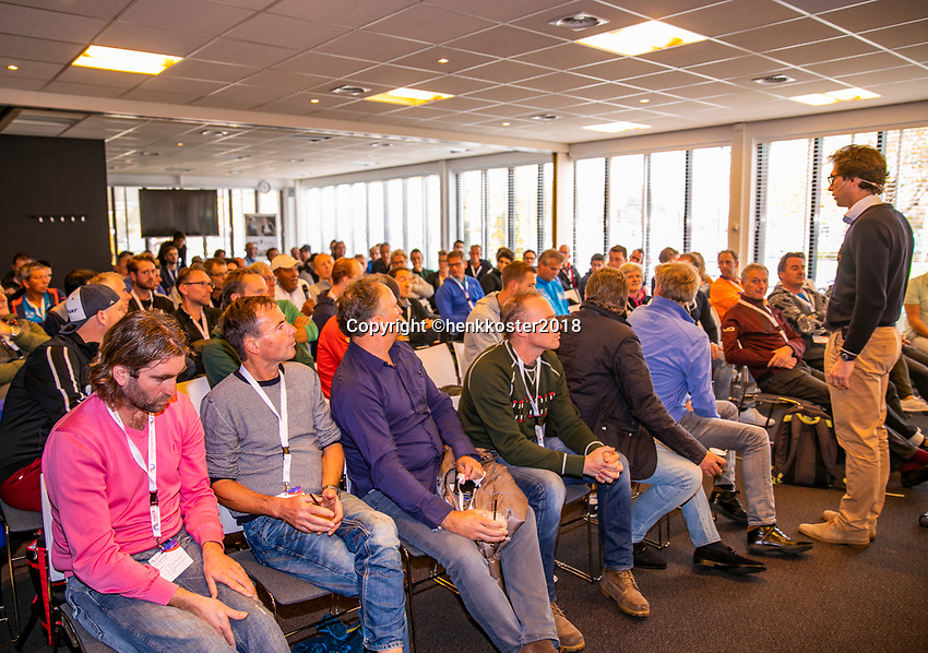 Nieuwegein,  Netherlands, 9 November 2018, Coaches congress KNLTB, Knowledge sessions<br /> Photo: Tennisimages.com/Henk Koster