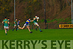 Patrick D'Arcy St Brendan's College gets to the ball ahead of Eoghan Carroll Tralee CBS during the Corn Uí Muirí quarter final in Killarney on Wednesday