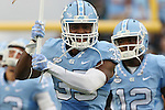 12 September 2015: UNC's Damien Washington. The University of North Carolina Tar Heels hosted the North Carolina A&T State University Aggies at Kenan Memorial Stadium in Chapel Hill, North Carolina in a 2015 NCAA Division I College Football game.