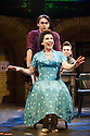 London, UK. 16.05.2014. Theatre Royal Stratford East presents FINGS AIN'T WOT THEY USED T'BE, starring Jessie Wallace, Gary Kemp and Mark Arden. Directored by Terry Johnson, with book by Frank Norman and Music & Lyrics by Lionel Bart. Picture shows: Ryan Molloy and Jessie Wallace, with Stefan Booth (behind). Photograph © Jane Hobson.