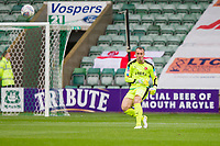 Alex Cairns of Fleetwood Town during the Sky Bet League 1 match between Plymouth Argyle and Fleetwood Town at Home Park, Plymouth, England on 7 October 2017. Photo by Mark  Hawkins / PRiME Media Images.